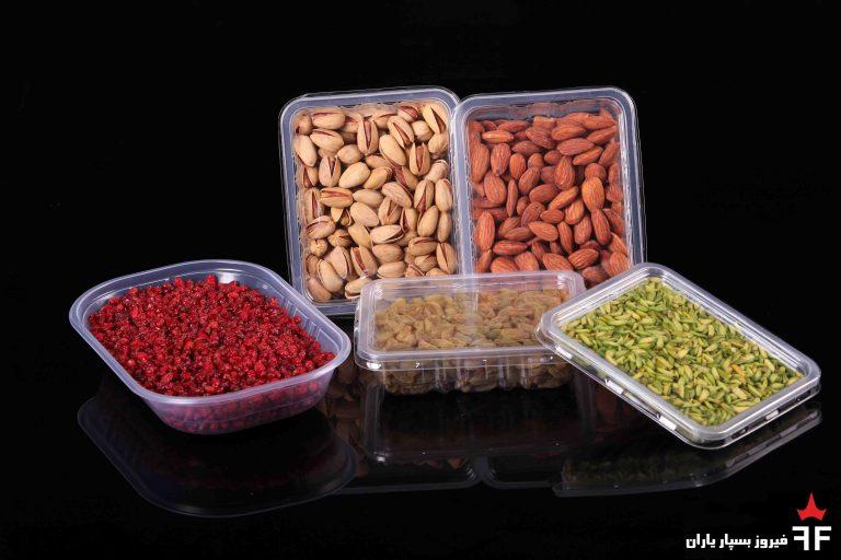 ظروف یکبار مصرف خشکبار، سالاد و ترشیجات